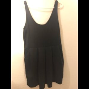 Cute black pleated dress